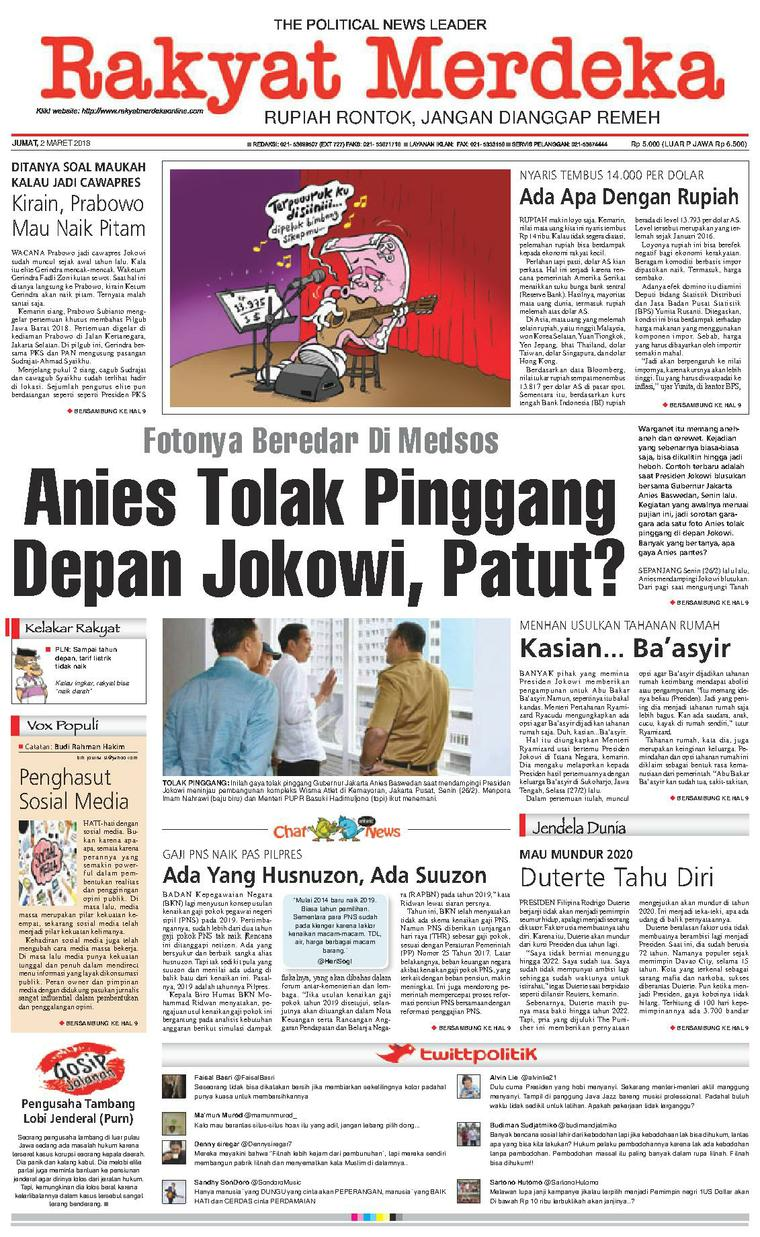 Koran Digital Rakyat Merdeka 02 Maret 2018