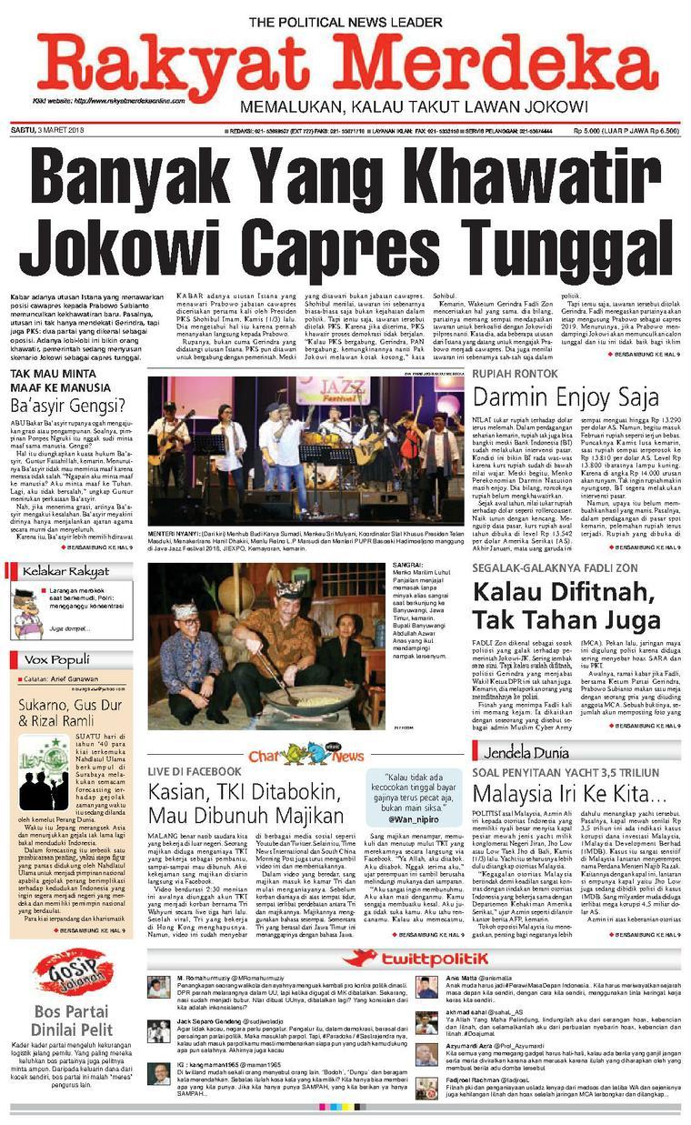Koran Digital Rakyat Merdeka 03 Maret 2018