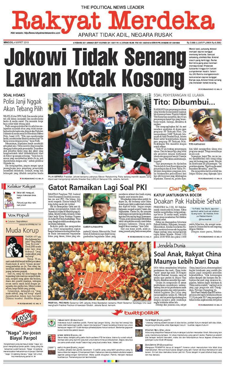 Koran Digital Rakyat Merdeka 04 Maret 2018