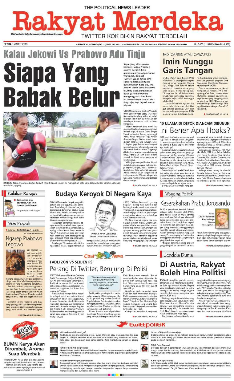 Koran Digital Rakyat Merdeka 05 Maret 2018