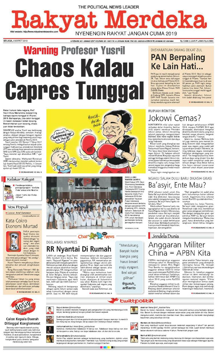 Koran Digital Rakyat Merdeka 06 Maret 2018