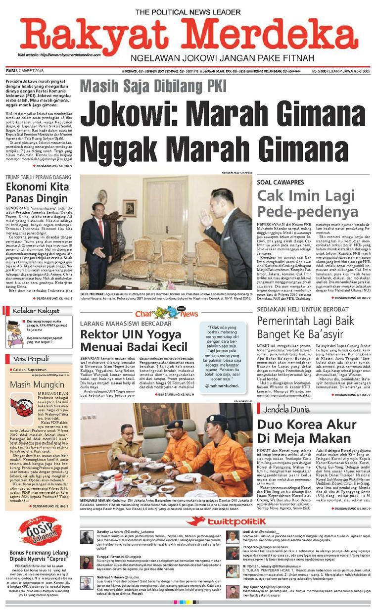 Koran Digital Rakyat Merdeka 07 Maret 2018