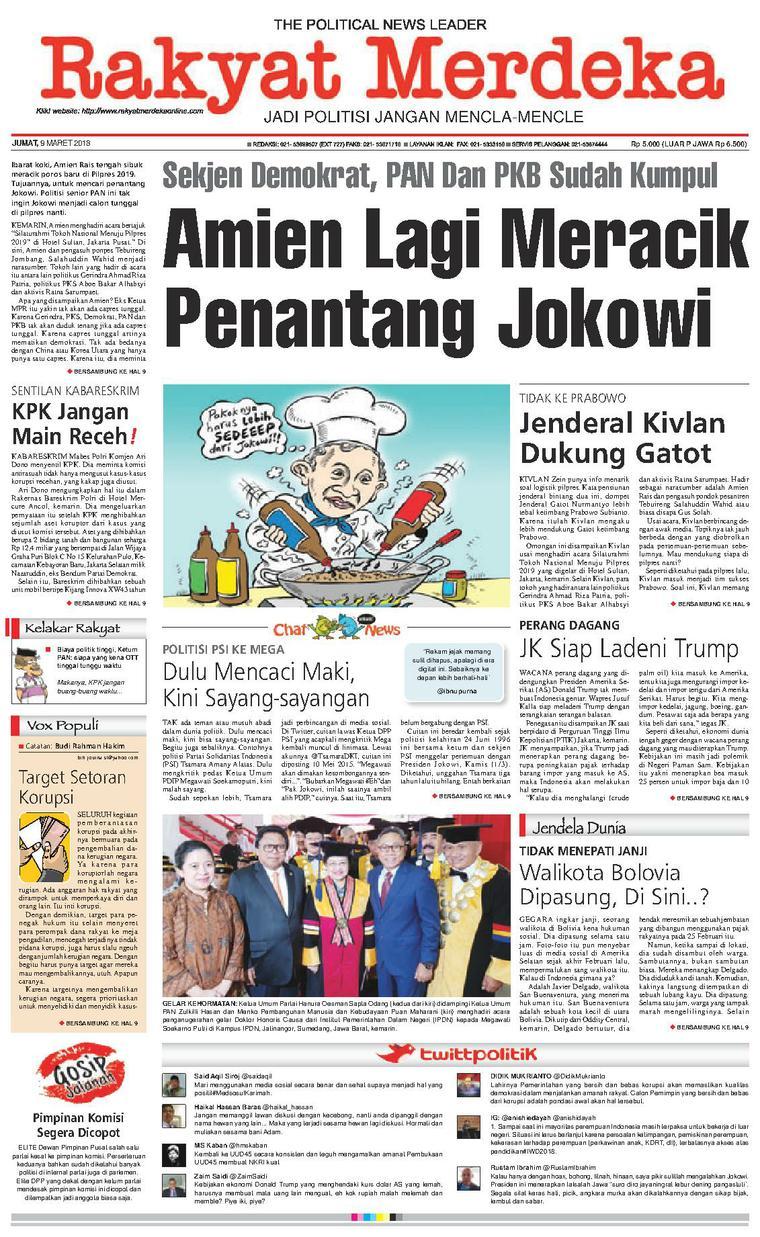 Koran Digital Rakyat Merdeka 09 Maret 2018