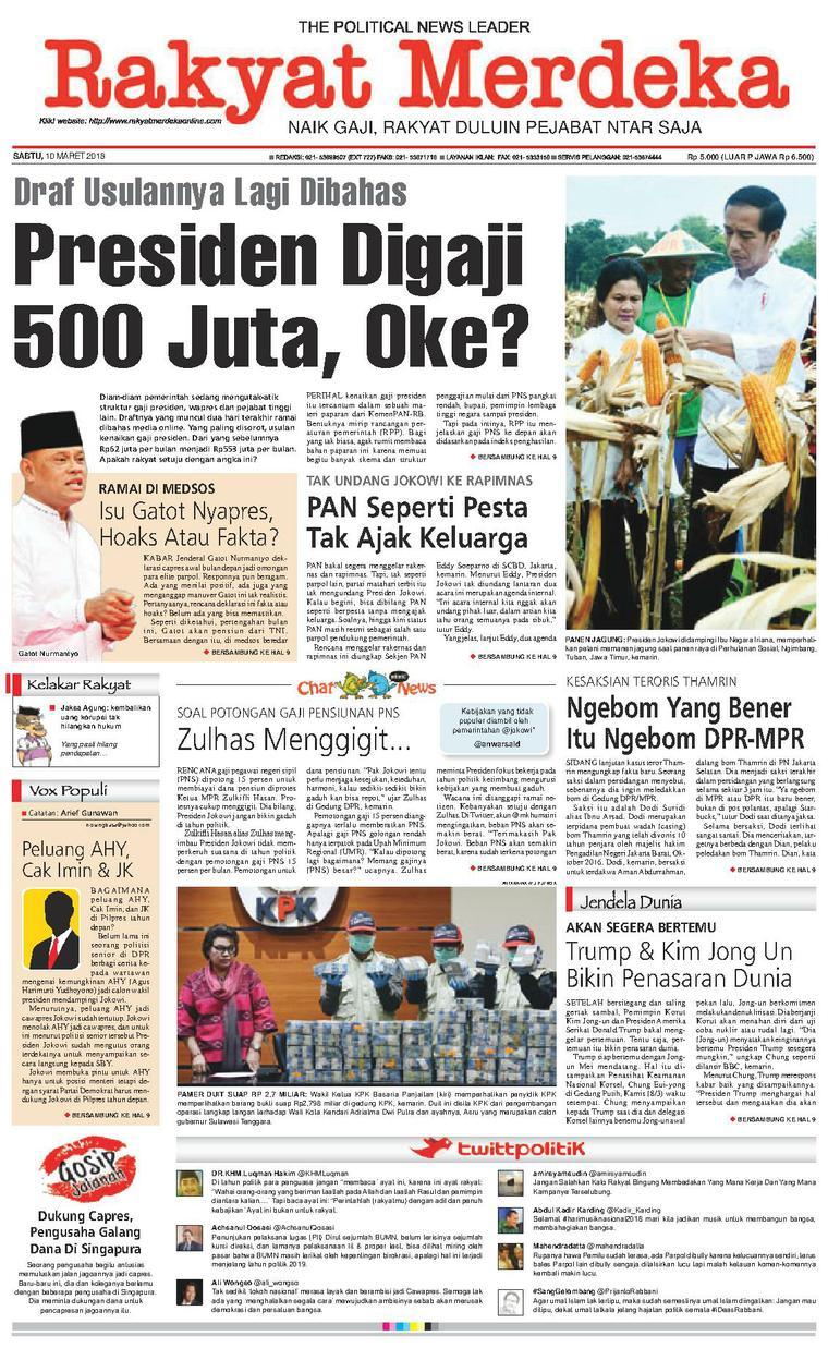 Koran Digital Rakyat Merdeka 10 Maret 2018