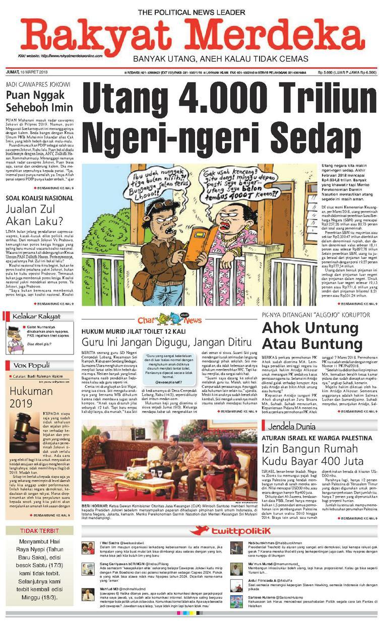 Koran Digital Rakyat Merdeka 16 Maret 2018