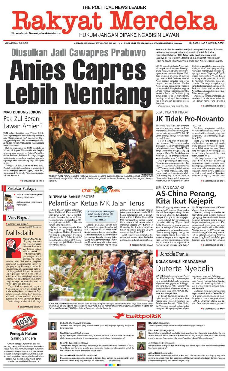 Koran Digital Rakyat Merdeka 28 Maret 2018