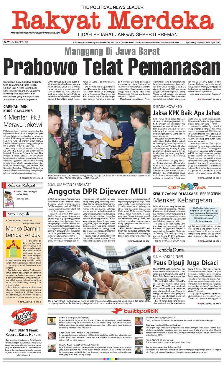 Koran Digital Rakyat Merdeka 31 Maret 2018
