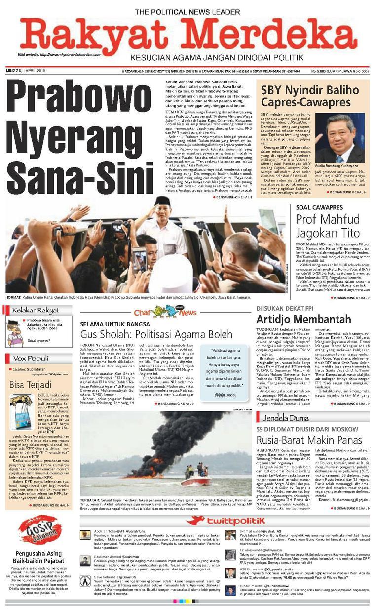 Koran Digital Rakyat Merdeka 01 April 2018