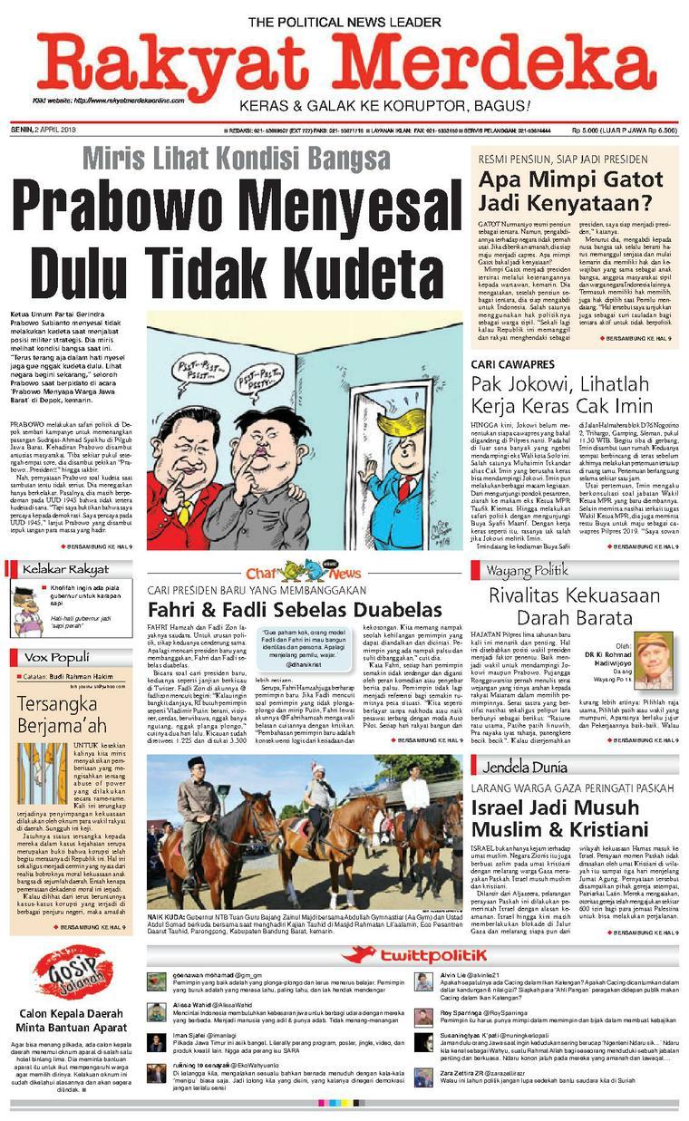 Koran Digital Rakyat Merdeka 02 April 2018
