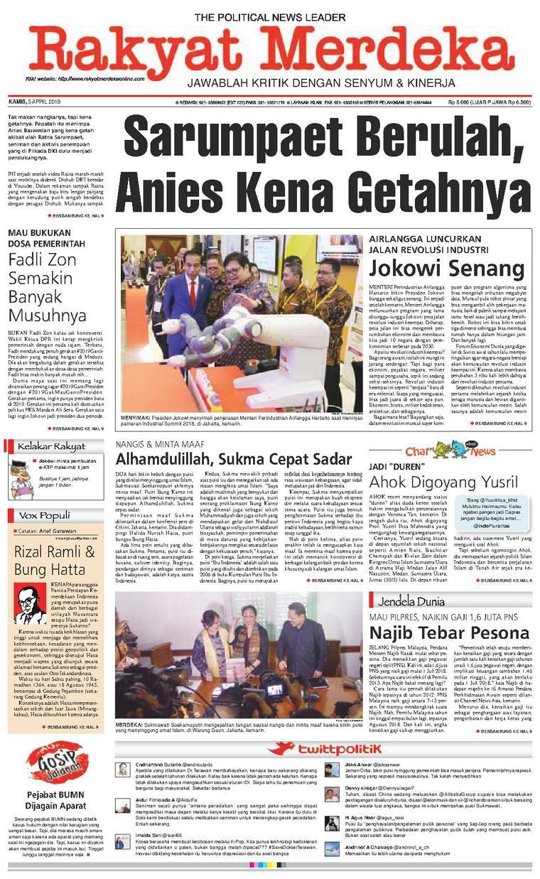 Koran Digital Rakyat Merdeka 05 April 2018