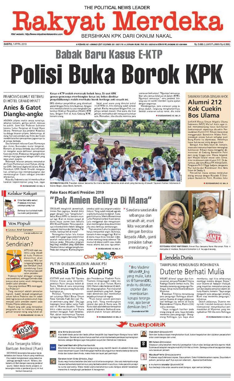 Koran Digital Rakyat Merdeka 07 April 2018