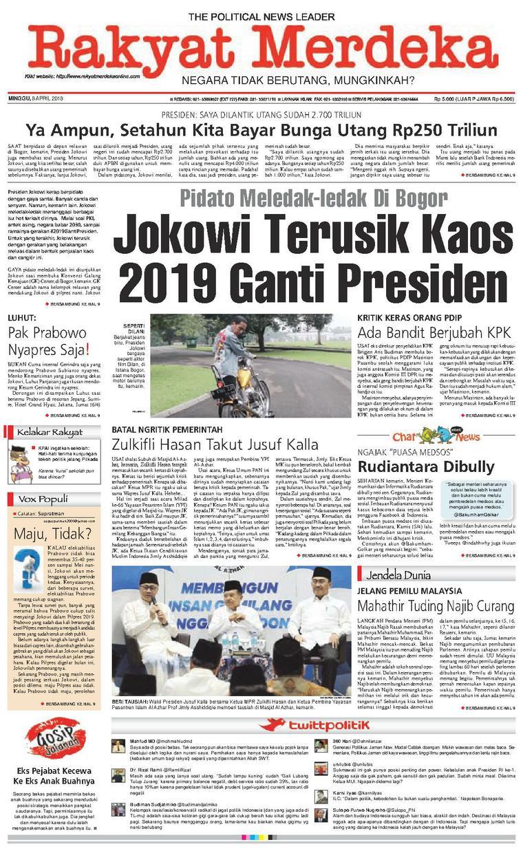 Koran Digital Rakyat Merdeka 08 April 2018