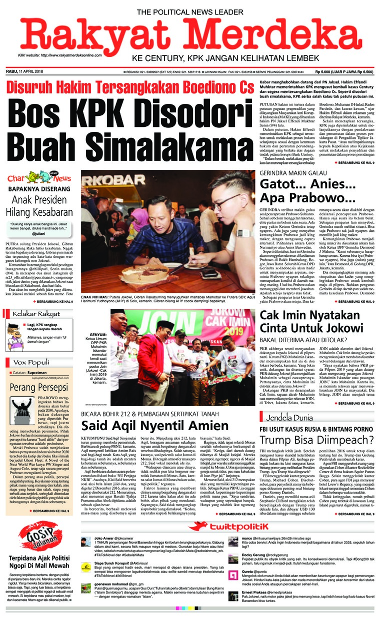Koran Digital Rakyat Merdeka 11 April 2018