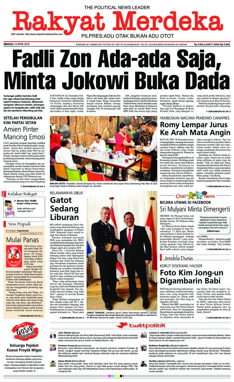Koran Digital Rakyat Merdeka 15 April 2018