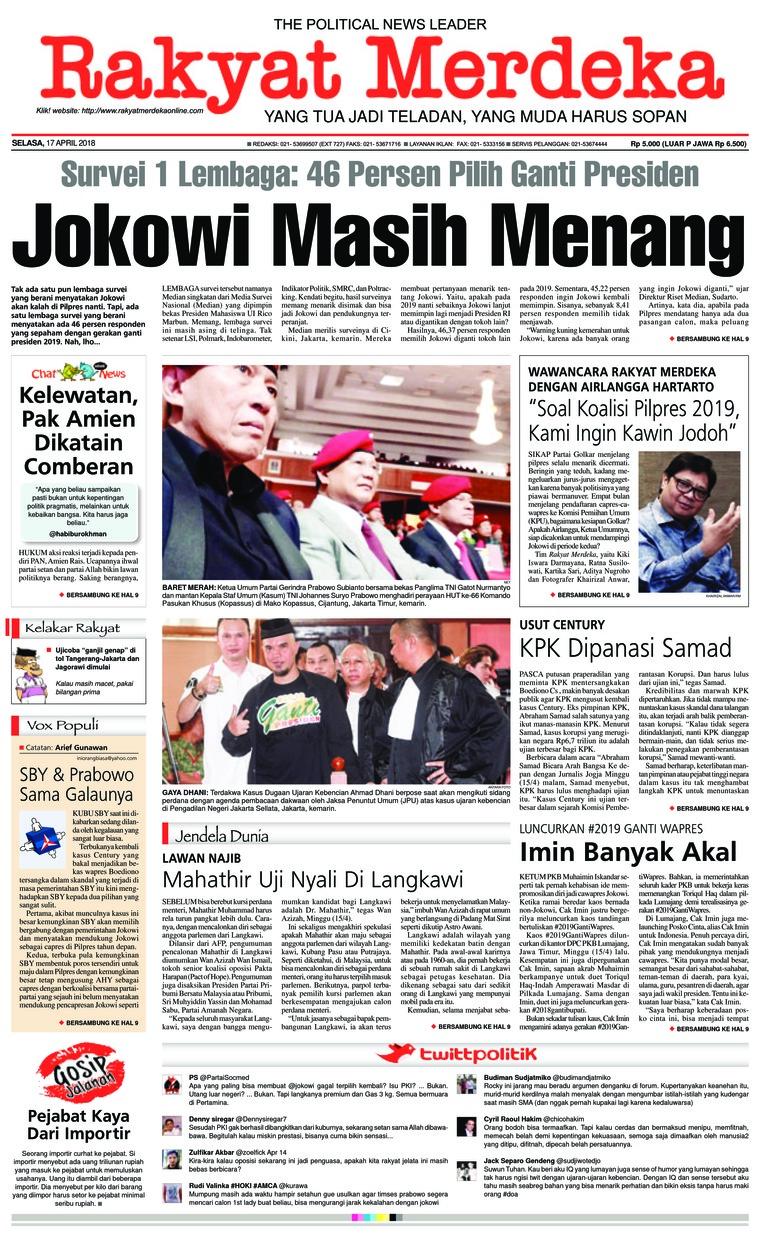 Koran Digital Rakyat Merdeka 17 April 2018