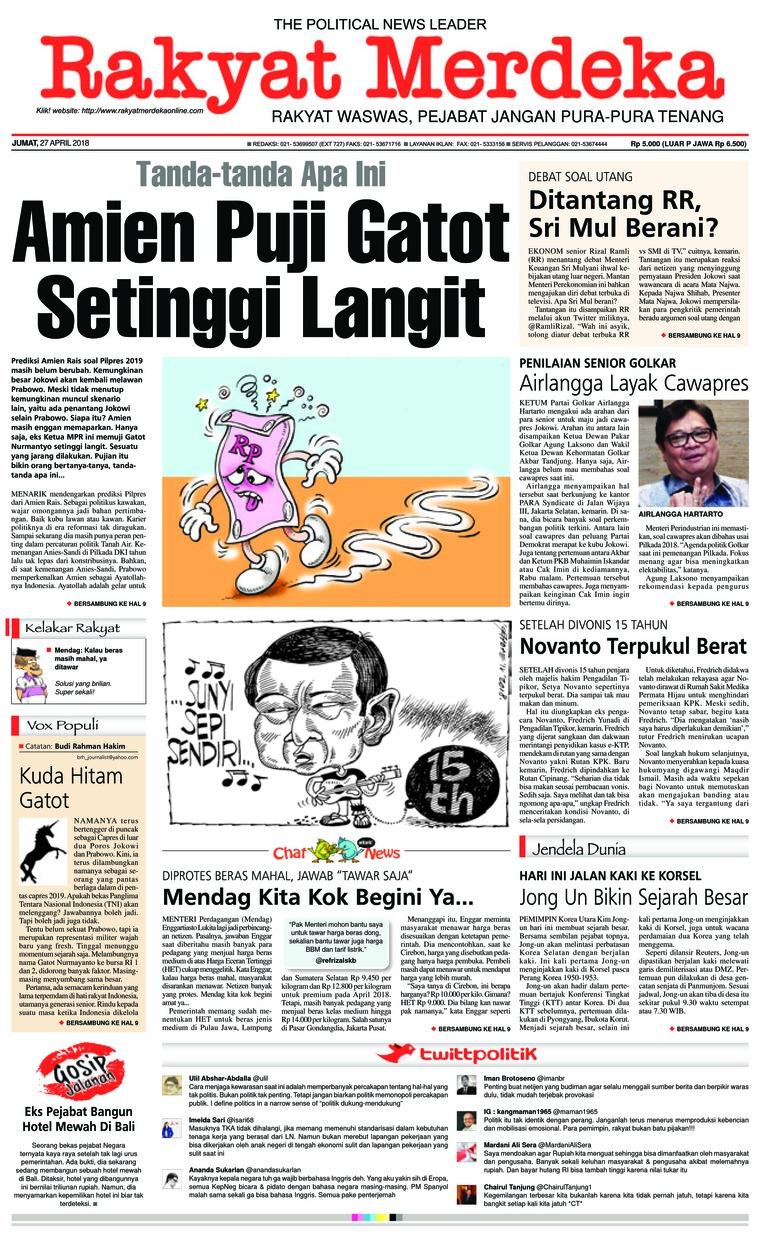 Koran Digital Rakyat Merdeka 27 April 2018