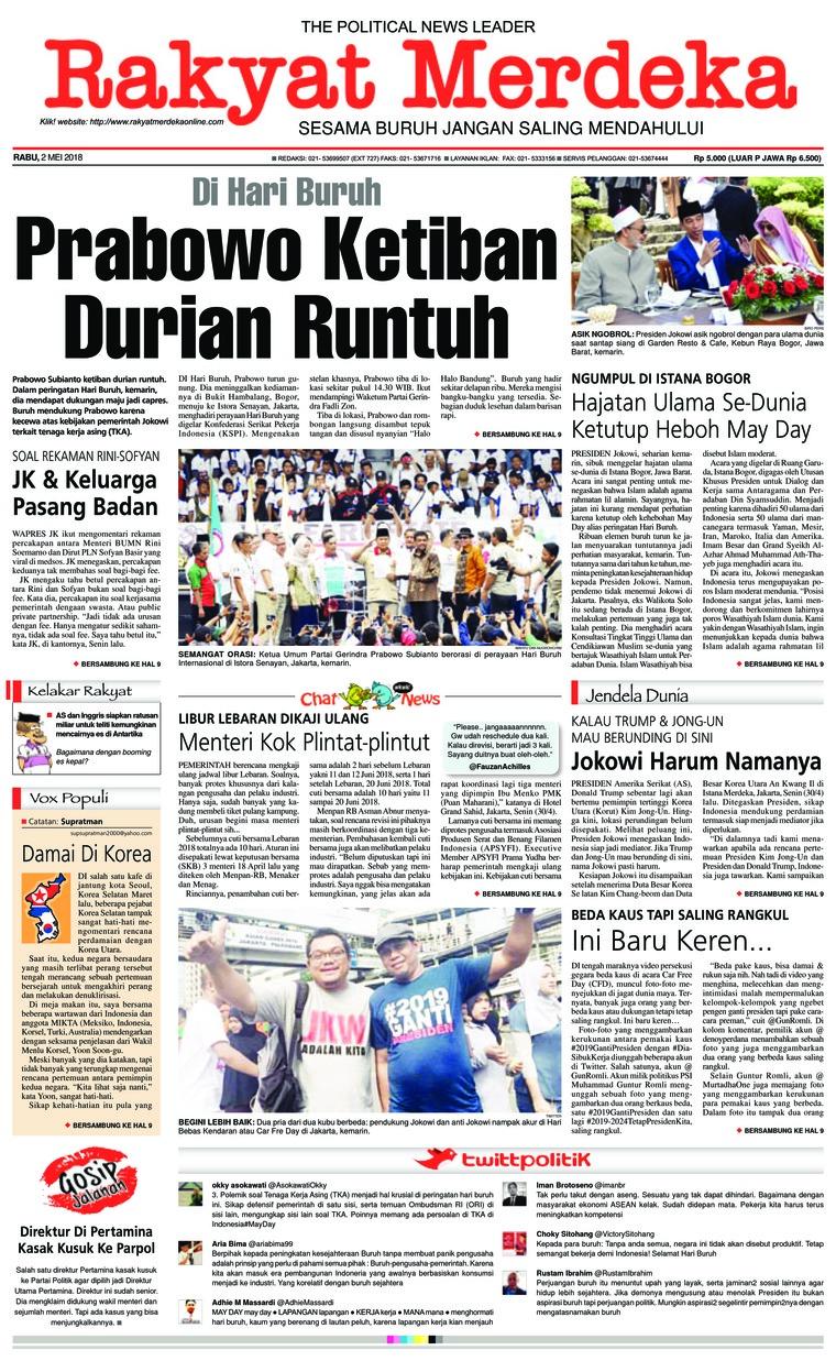 Koran Digital Rakyat Merdeka 02 Mei 2018