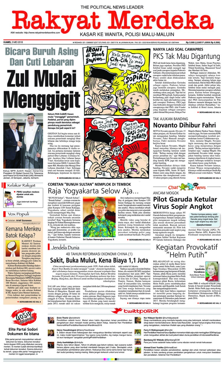 Koran Digital Rakyat Merdeka 03 Mei 2018