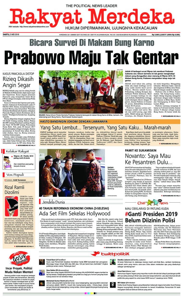 Rakyat Merdeka Digital Newspaper 05 May 2018