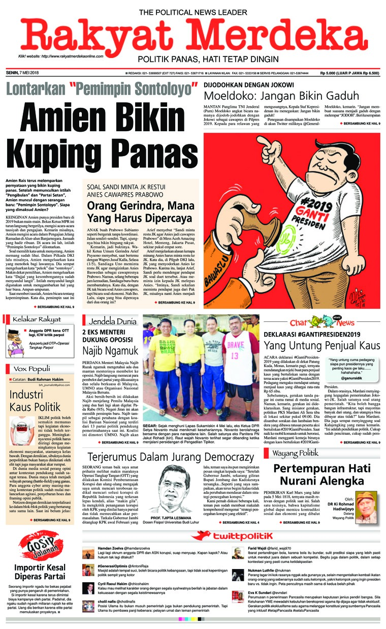 Koran Digital Rakyat Merdeka 07 Mei 2018