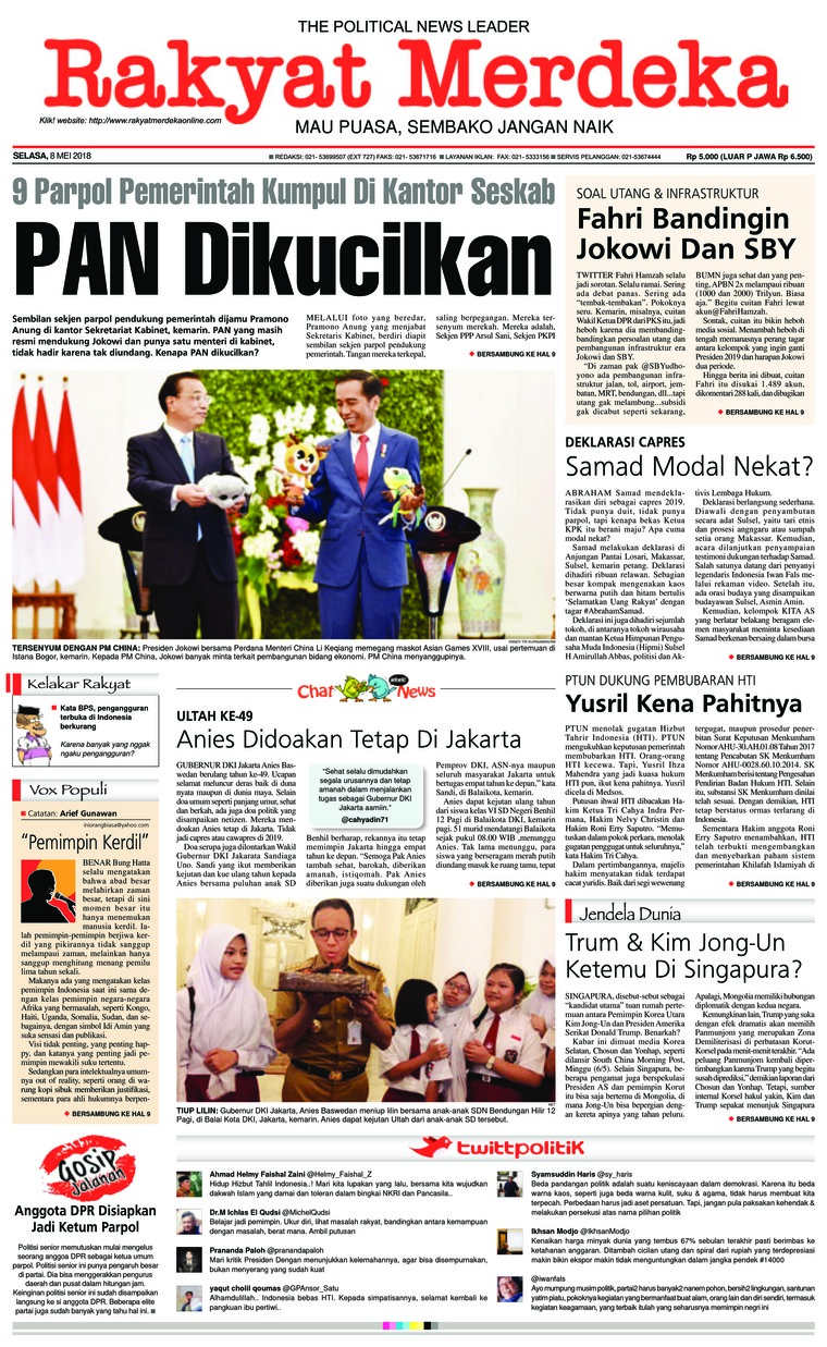 Koran Digital Rakyat Merdeka 08 Mei 2018