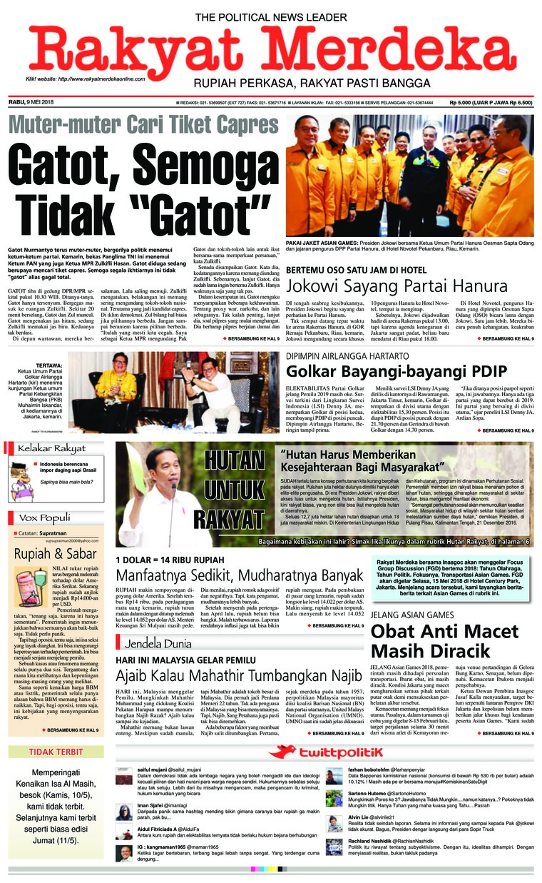 Koran Digital Rakyat Merdeka 09 Mei 2018