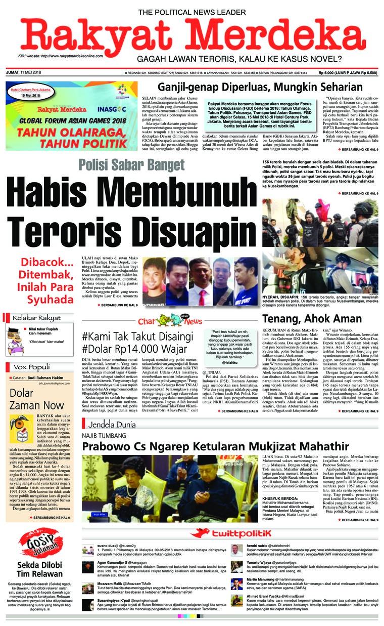 Koran Digital Rakyat Merdeka 11 Mei 2018