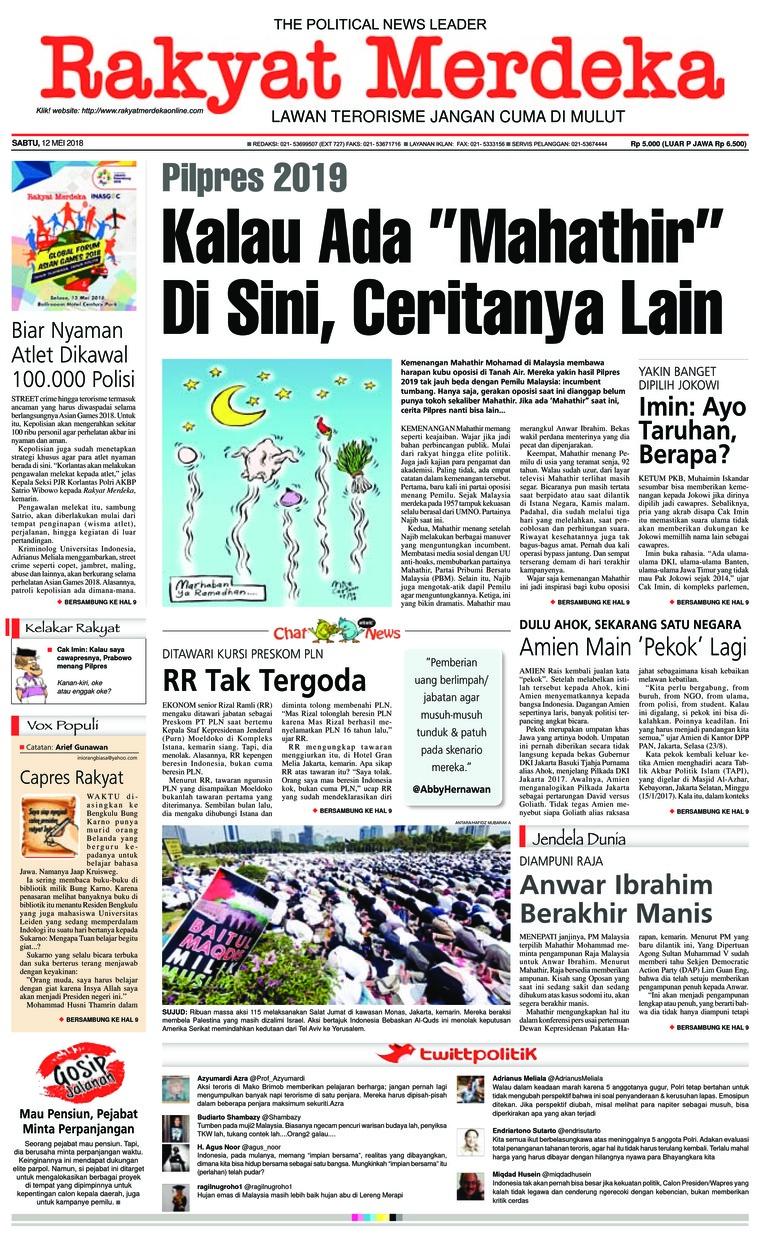 Rakyat Merdeka Digital Newspaper 12 May 2018