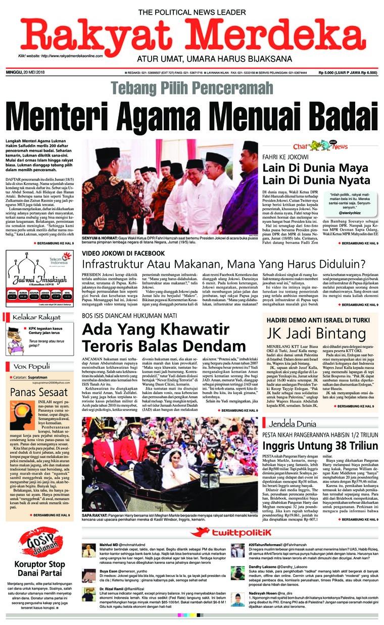Koran Digital Rakyat Merdeka 20 Mei 2018