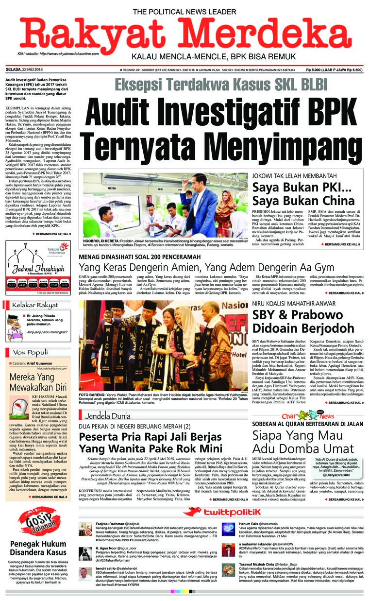 Koran Digital Rakyat Merdeka 22 Mei 2018