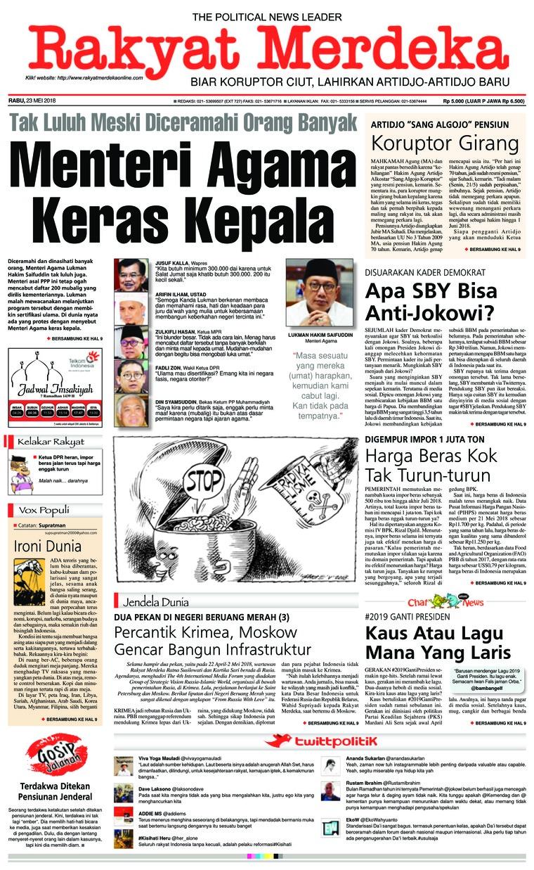 Koran Digital Rakyat Merdeka 23 Mei 2018