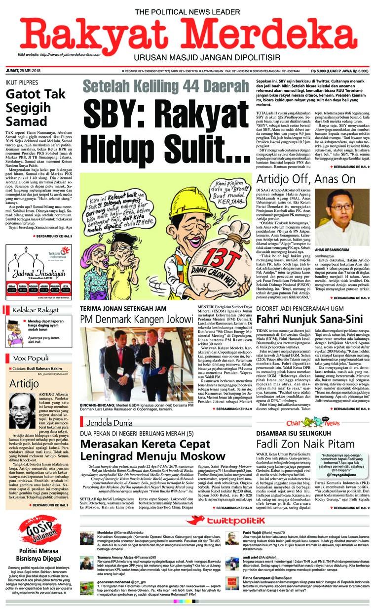 Koran Digital Rakyat Merdeka 25 Mei 2018