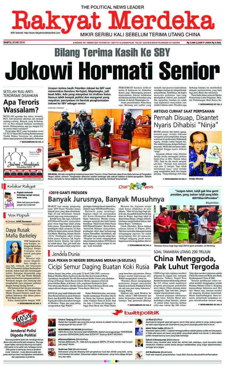 Koran Digital Rakyat Merdeka 26 Mei 2018