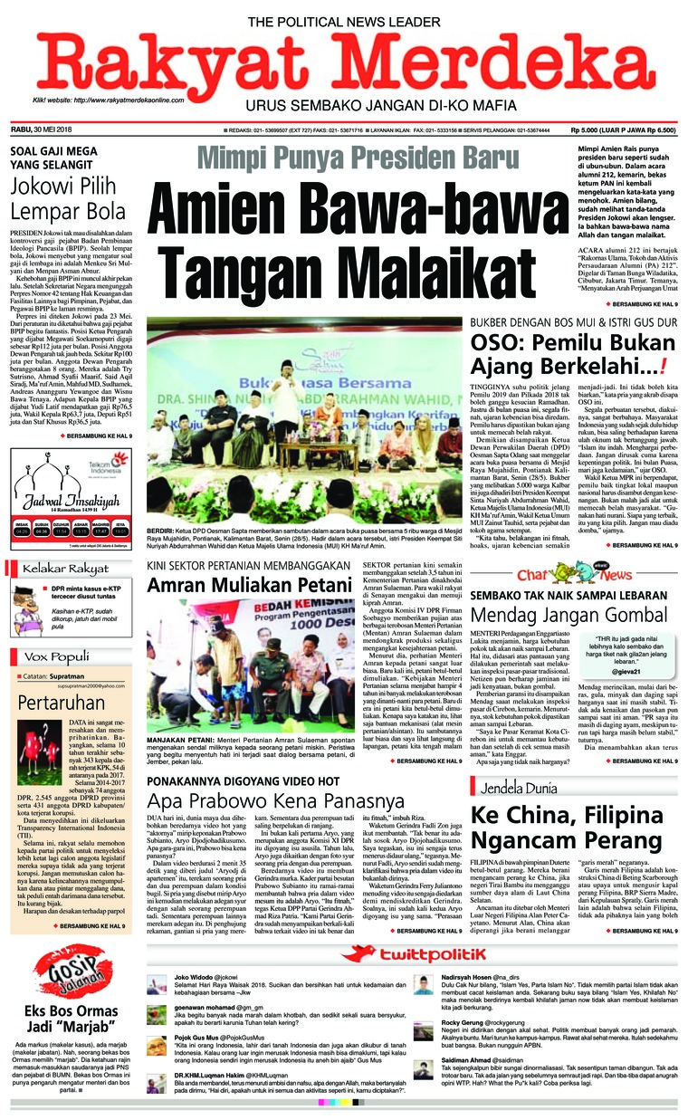Koran Digital Rakyat Merdeka 30 Mei 2018