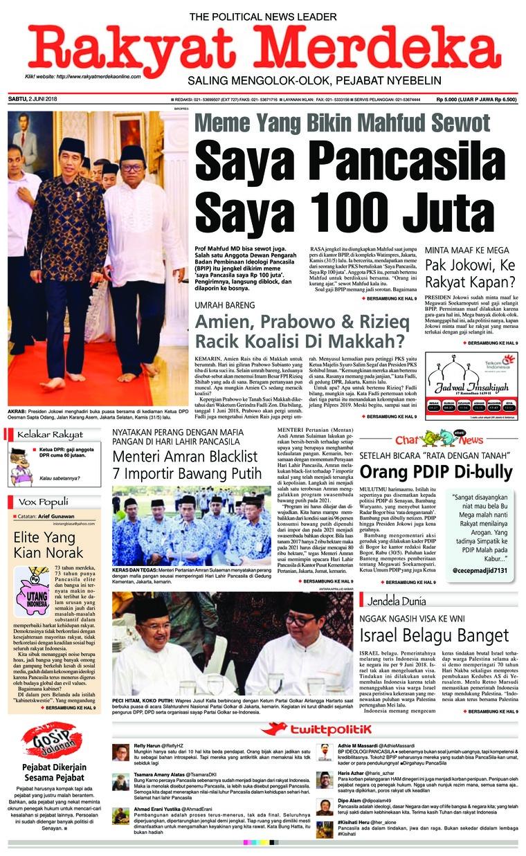 Koran Digital Rakyat Merdeka 02 Juni 2018