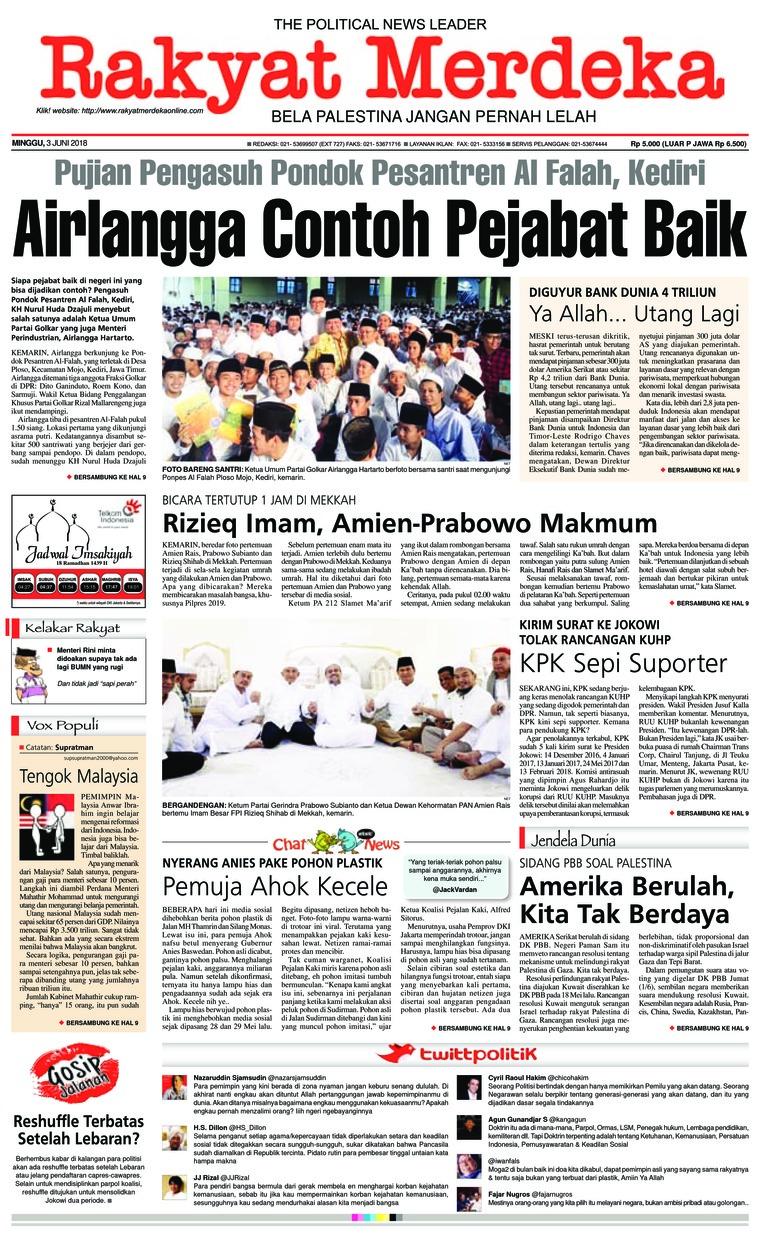 Koran Digital Rakyat Merdeka 03 Juni 2018
