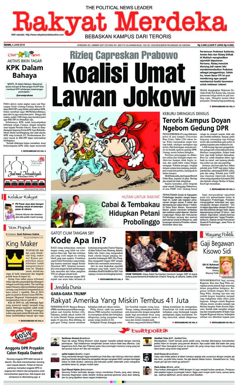 Koran Digital Rakyat Merdeka 04 Juni 2018