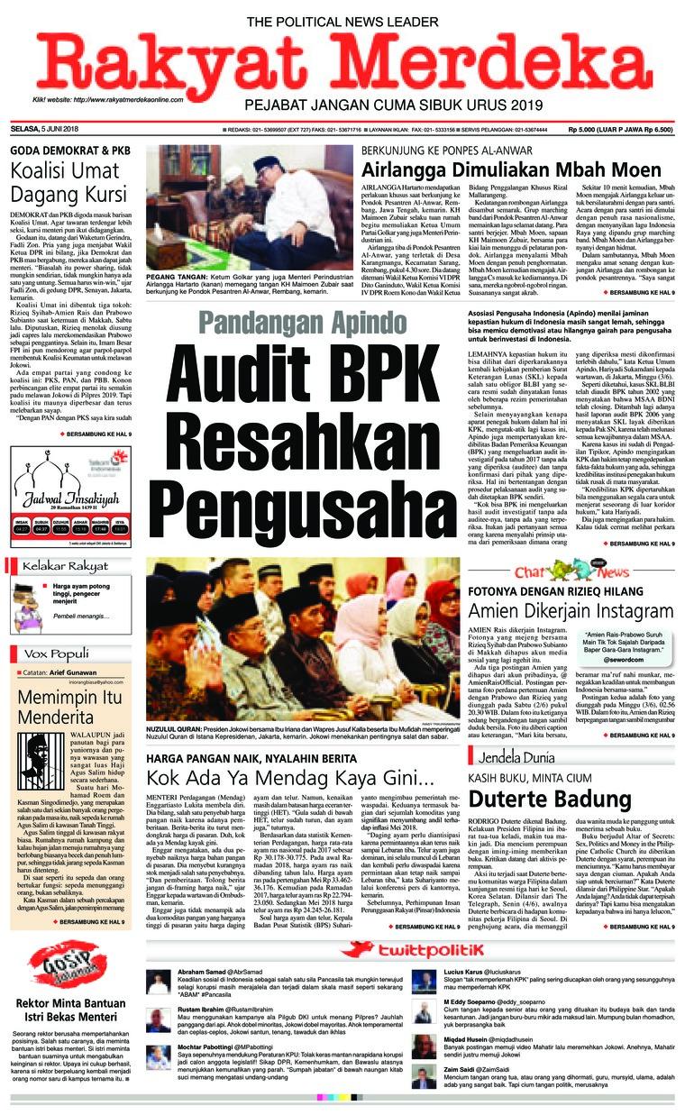 Koran Digital Rakyat Merdeka 05 Juni 2018