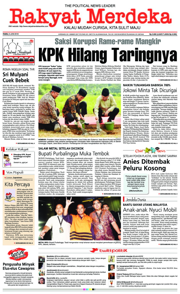 Rakyat Merdeka Digital Newspaper 06 June 2018