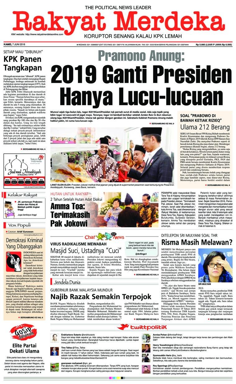 Koran Digital Rakyat Merdeka 07 Juni 2018