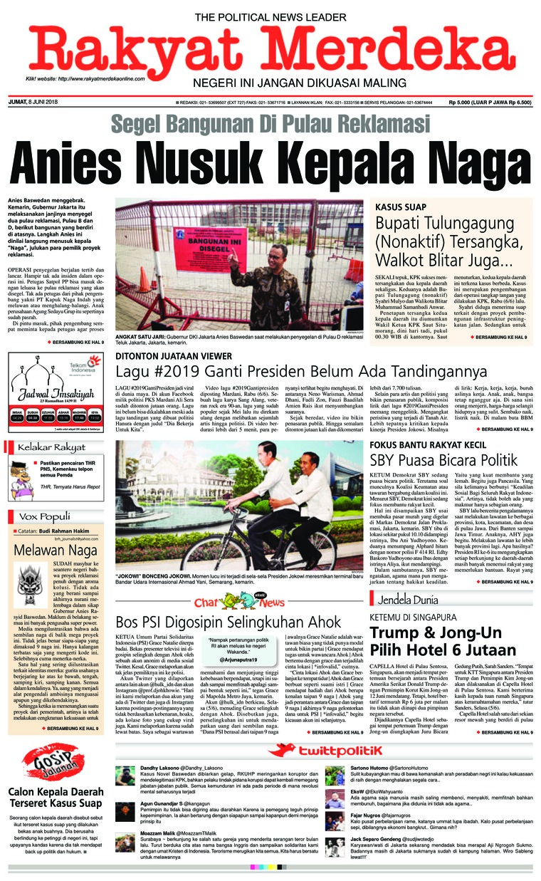 Koran Digital Rakyat Merdeka 08 Juni 2018