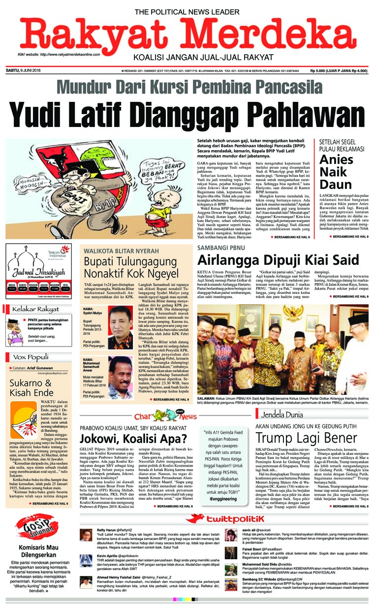 Rakyat Merdeka Digital Newspaper 09 June 2018