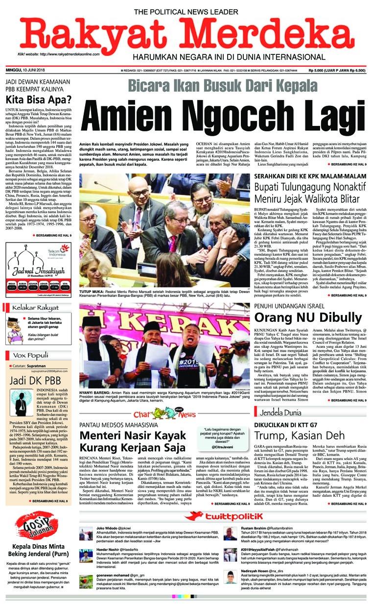 Koran Digital Rakyat Merdeka 10 Juni 2018