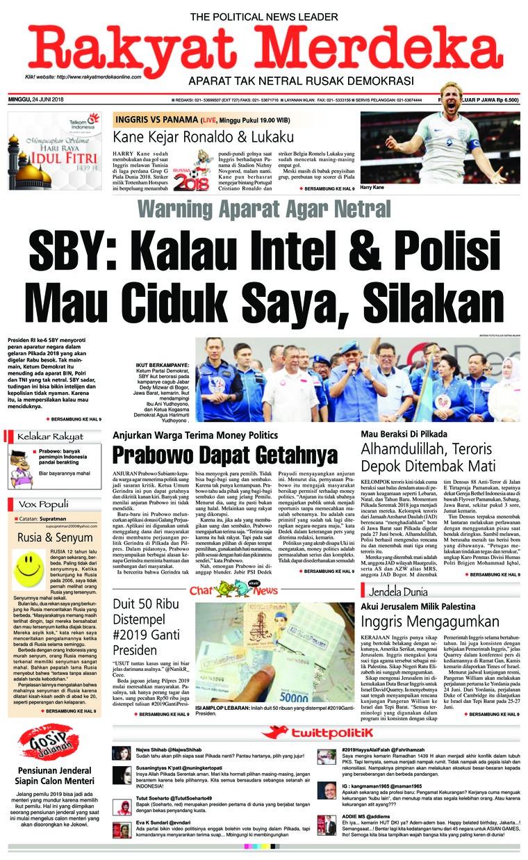 Koran Digital Rakyat Merdeka 24 Juni 2018