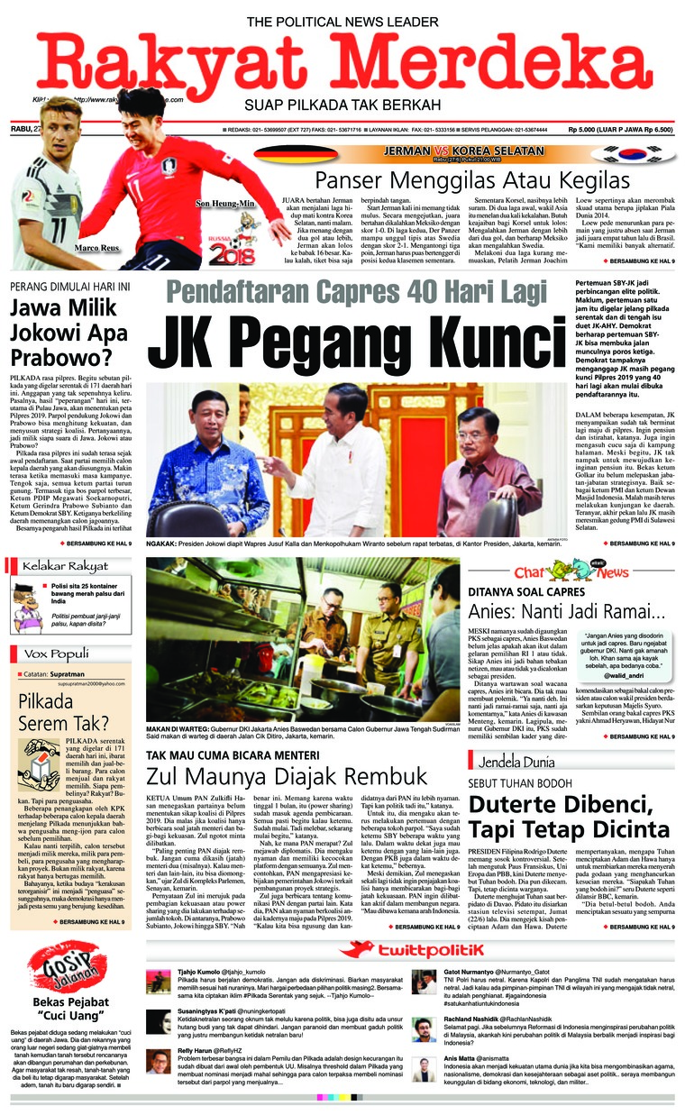Koran Digital Rakyat Merdeka 27 Juni 2018