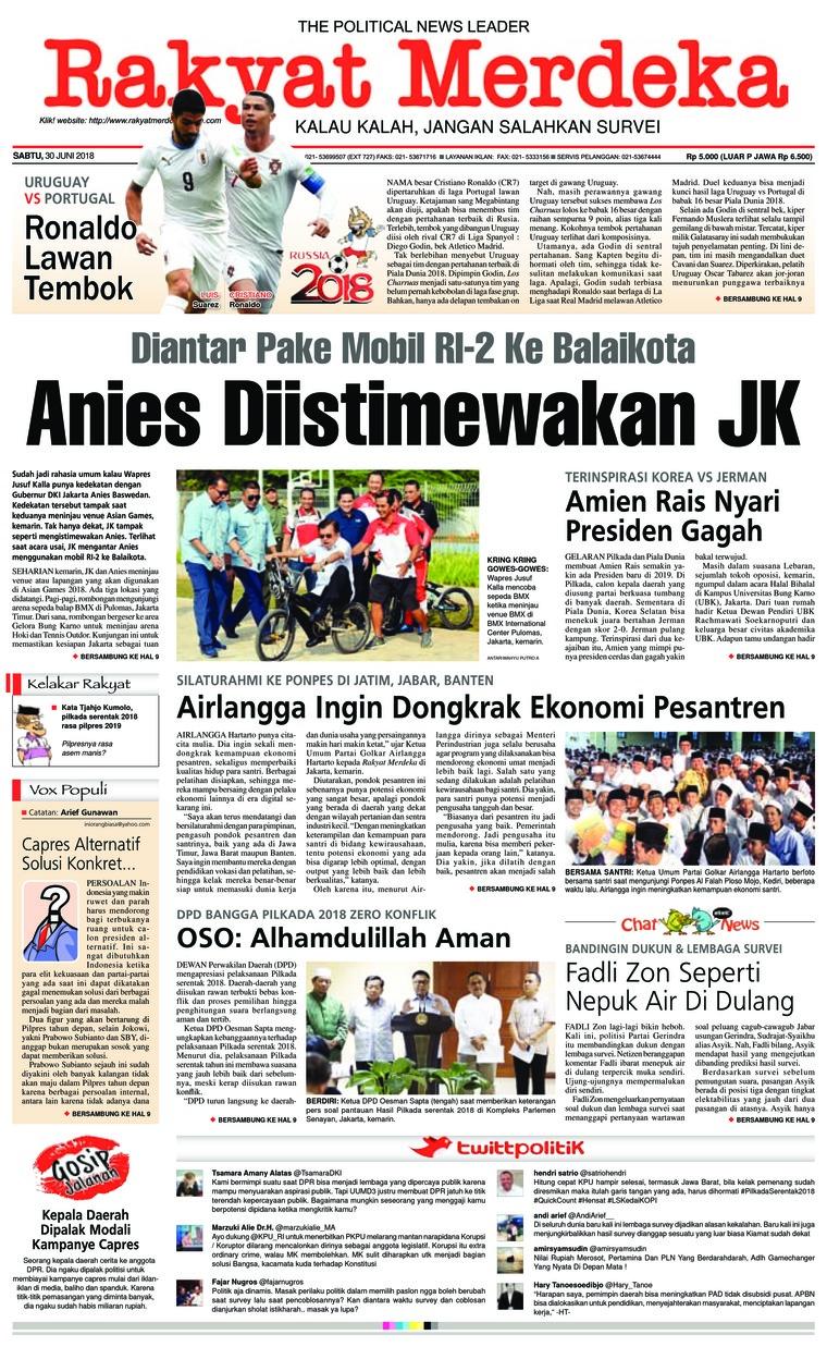 Koran Digital Rakyat Merdeka 30 Juni 2018