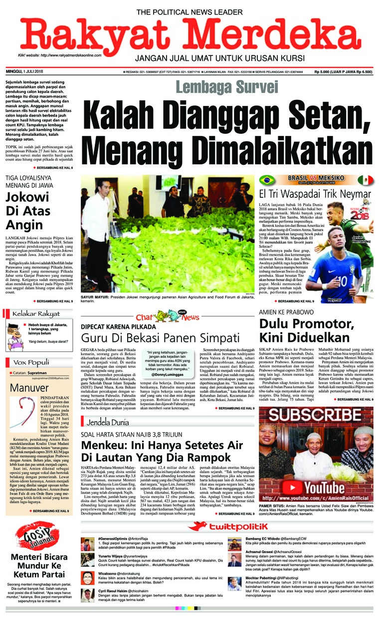 Koran Digital Rakyat Merdeka 01 Juli 2018