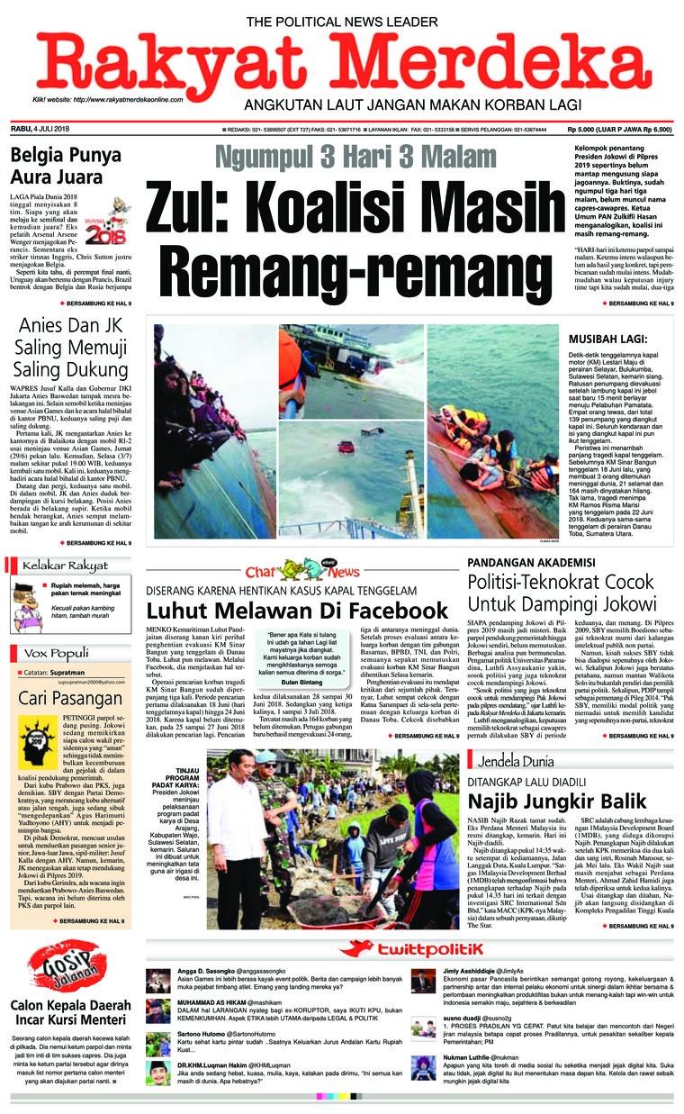 Koran Digital Rakyat Merdeka 04 Juli 2018