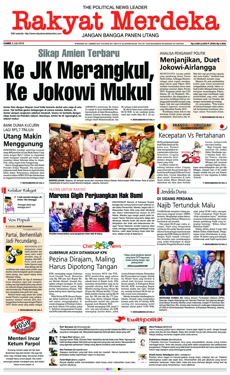 Koran Digital Rakyat Merdeka 05 Juli 2018