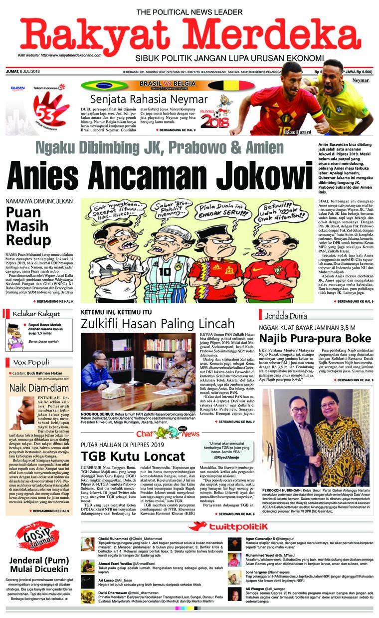 Koran Digital Rakyat Merdeka 06 Juli 2018